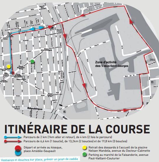 Itinéraire Foulees villeneuvoises