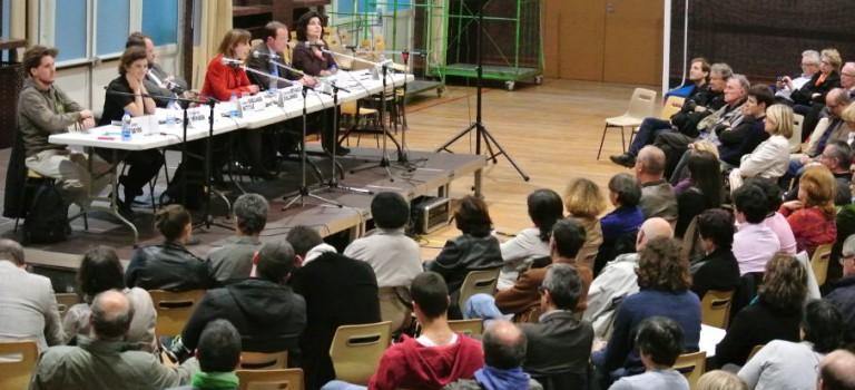 Retransmission du débat entre candidats aux Européennes à Nogent