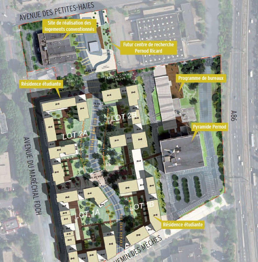 Projet Gizeh Bouygues Pernod Creteil Plan Perspective BDVA