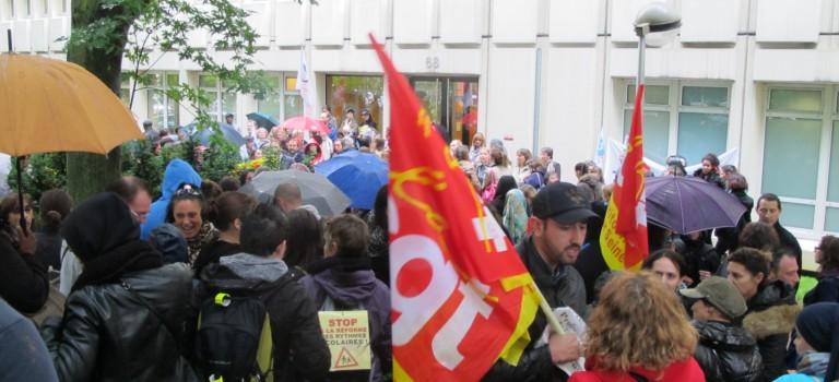 Nouvelle manifestation pour titulariser les enseignants à Créteil