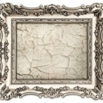 golden frame with canvas for your picture, photo, image