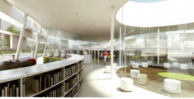 Pole Culturel Limeil Brevannes interieur mediatheque