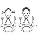 Cantine enfants à table blanc © Pétrouche - Fotolia