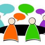 réunion - discussion - bulles