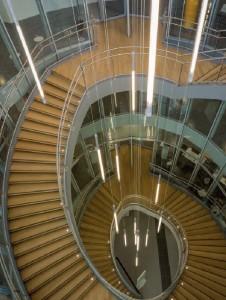 Mediatheque Nelson Mandela (escalier) credit Guillaume Guerin