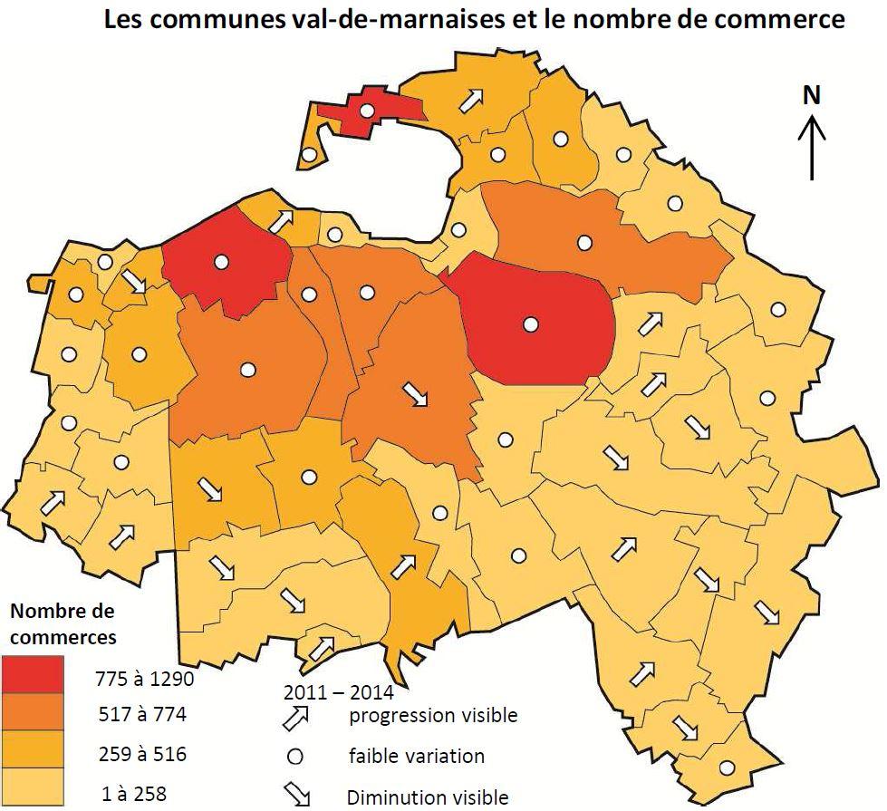 Source : BDD Équipement Commercial 2014 – CCI 94