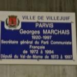 Plaque Georges Marchais