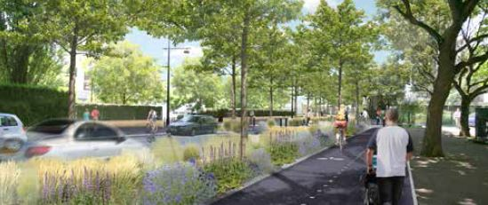 RD 127 à Gentilly: quel partage de la voie entre vélos, piétons et voitures?