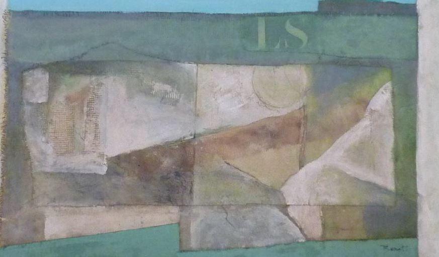 Thierry Brouet, artiste-peintre, charentonnais, présente ses dernières toiles abstraites, techniques mixtes