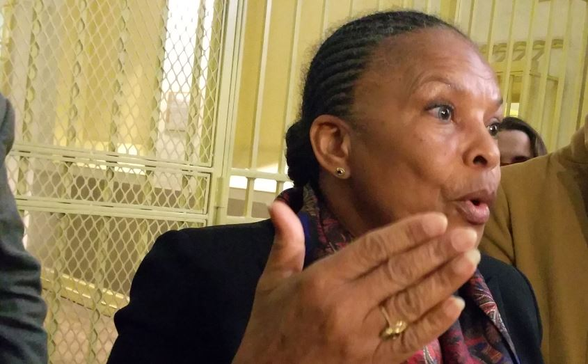 Christiane Taubira Prison Fresnes 14 janvier 2015 photo  94 Citoyens 2