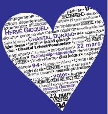 Départementales : les militants surfent sur la Saint-Valentin