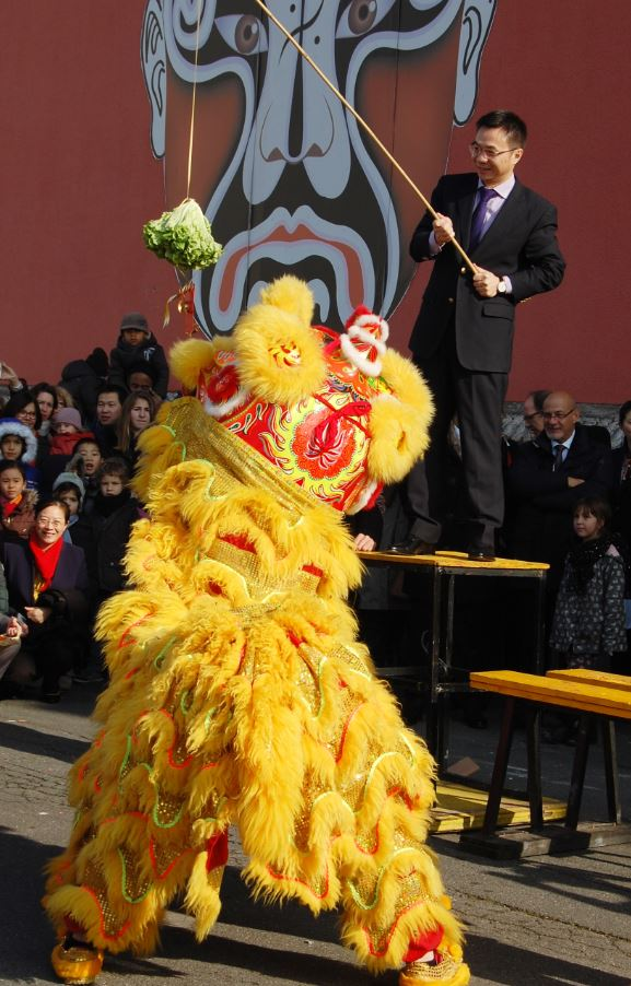 Nouvel An Chinois 2 Danse du Lion Alfortville 19  Fevrier 2015