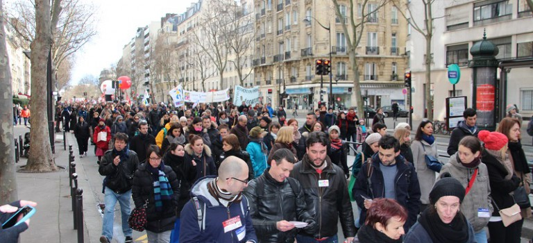 Les enseignants du 94 ont manifesté leur malaise à Paris