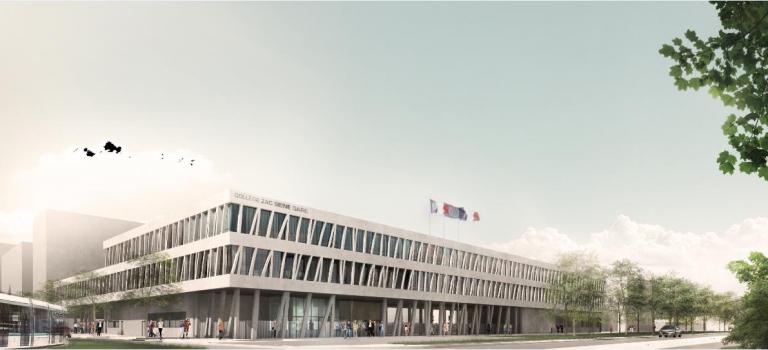 Le nouveau collège Seine Gare de Vitry en image