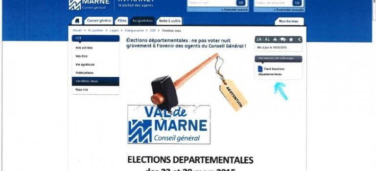L'UMP dénonce l'appel à battre la droite de la CGT publié sur l'intranet du Conseil général