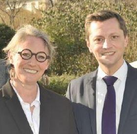 Réunion de Brigitte Chambre-Martin et Gildas Lecoq à Fontenay