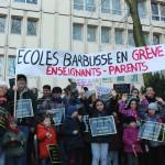 Ecole Henri Barbusse Manifestation
