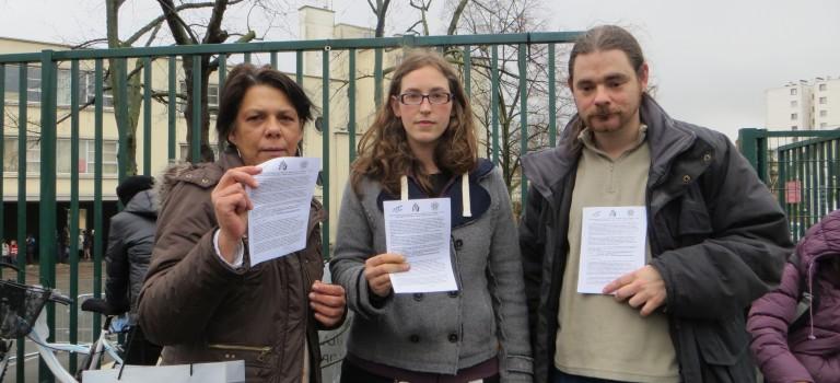 Mobilisation contre l'expulsion du père de Roméo à Villejuif