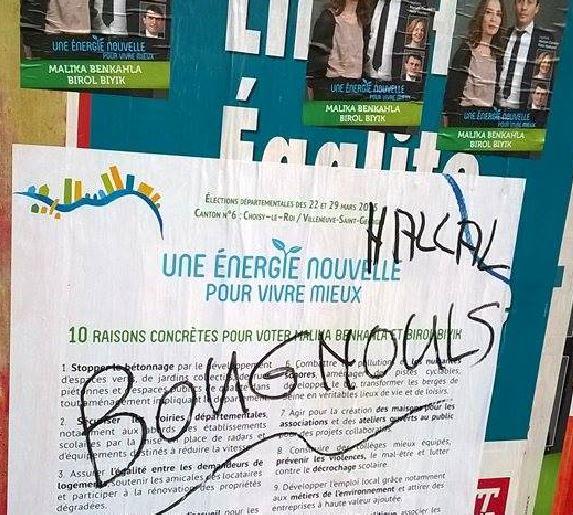 Insultes paneaux Villenueve Saint Georges 2
