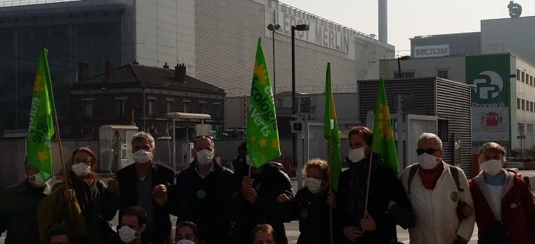 EELV manifeste contre la nouvelle usine d'incinération à Ivry