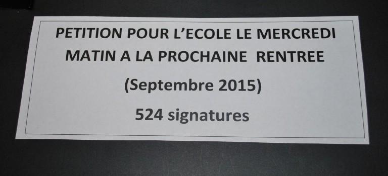 524 pétitions contre le samedi travaillé à Ormesson-sur-Marne