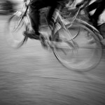 cycling with motion blur