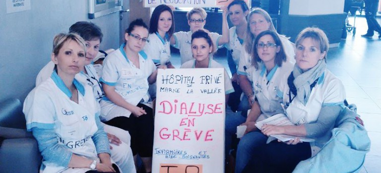 Barbecue de soutien aux grévistes de l'hôpital privé Marne la Vallée