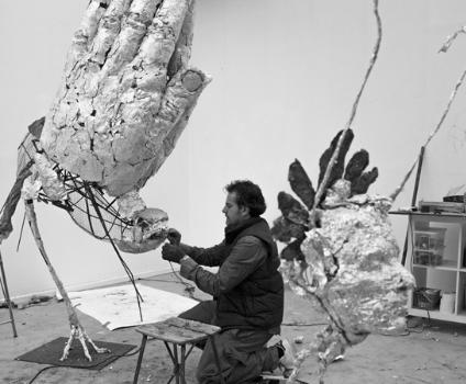 Les sculptures géantes en papier alu de Laurent Esquerré