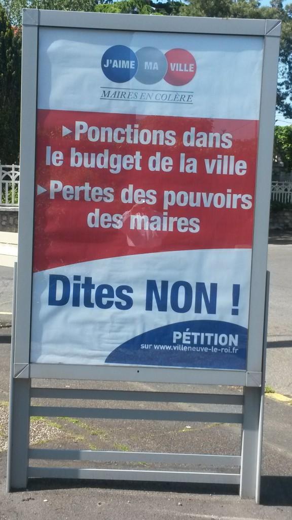 maires en colère - panneaux - Villeneuve-le-Roi