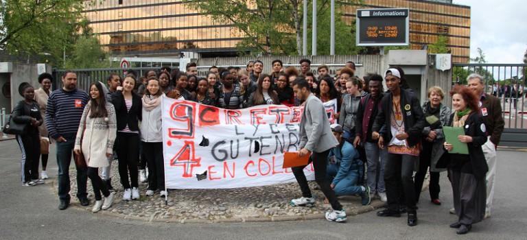 Le lycée Gutenberg fortement mobilisé contre l'expulsion de Luminata