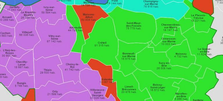 Métropole: une majorité se dégage pour trois territoires en Val-de-Marne