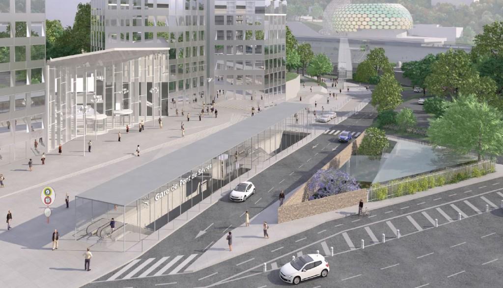 Gare Grand Paris Express Pont de Sevres credit Jean Marie Duthilleul 1