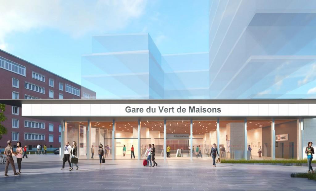 Gare Grand Paris Express Vert de Maisons Valode et Pistre 1