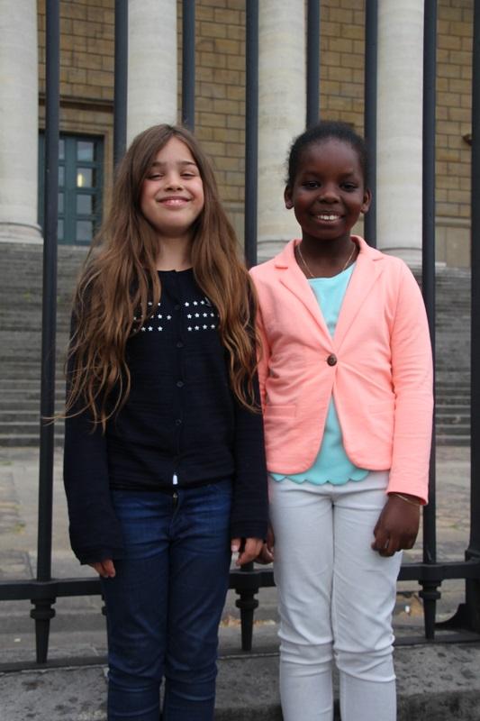 Lilie, à gauche, et Rayana, à droite