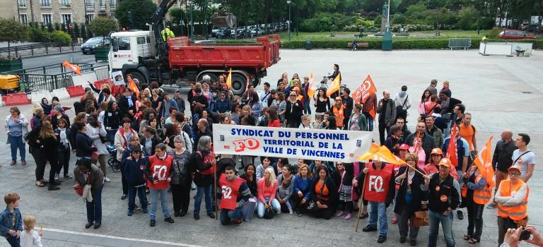 Grève et manif à Vincennes contre la suppression d'assistants sanitaires
