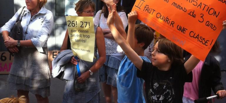 Manifestation soutenue à Villejuif contre les fermetures de 6 classes