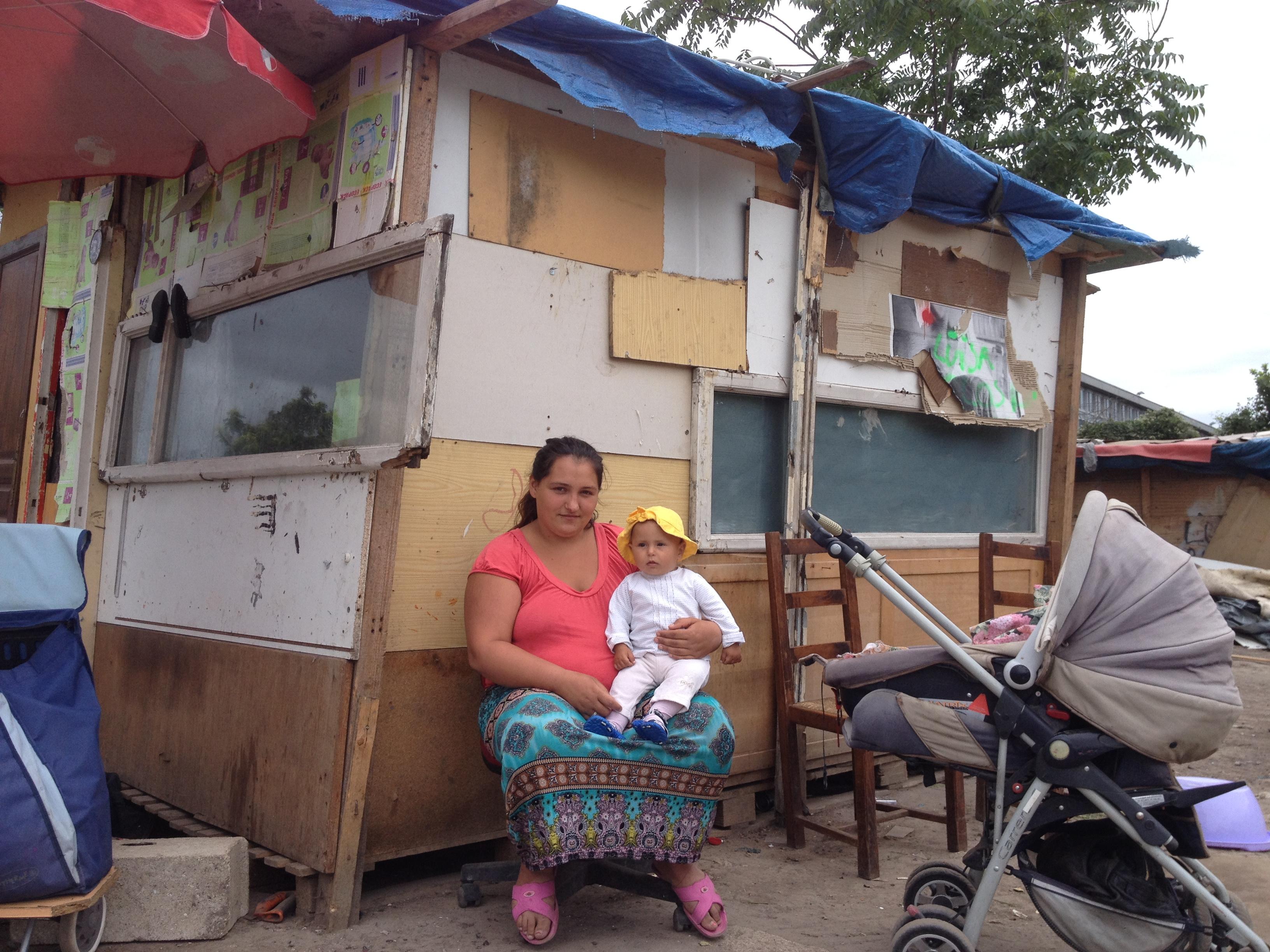 Dayana et son bébé âgé de 7 mois, Maya