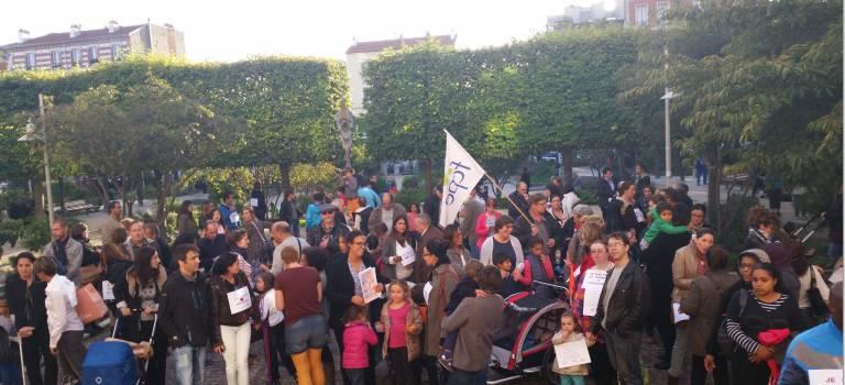 Les parents d'élèves ont manifesté contre les nouveaux tarifs périscolaires à Alfortville