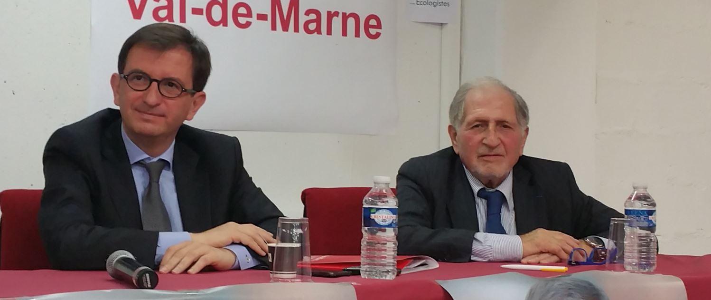 Daniel Guérin (MRC) et Charles Knopfer (PRG)