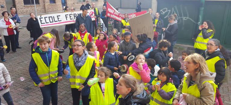 A Vitry, les parents d'élèves de Langevin ont marché pour réclamer des ouvertures de classe