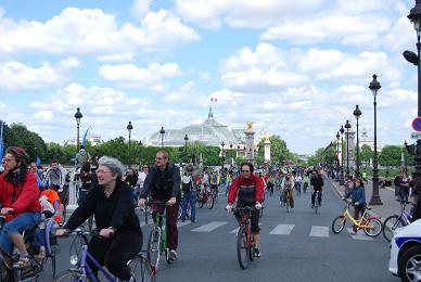 Convergence à vélo vers Paris