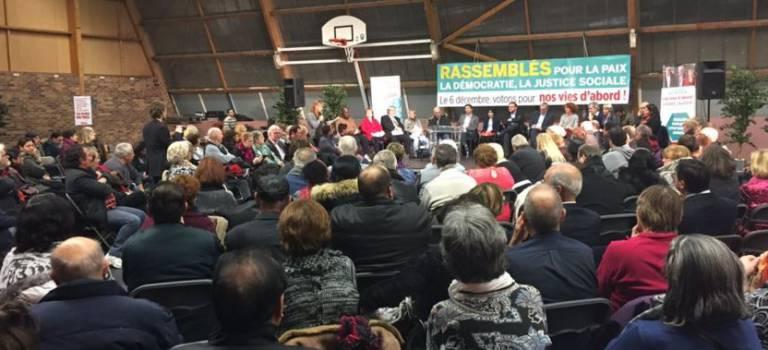 Régionales Ile-de-France : Pierre Laurent a tenu son meeting à Champigny-sur-Marne