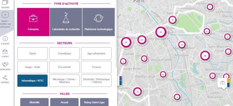 Cartes des entreprises innovantes et bureaux louer en val de marne 94 citoyens - Location bureau val de marne ...