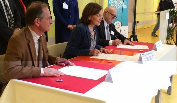 La ministre a signé à Bonneuil une charte pour moins gaspiller la nourriture en Ehpad