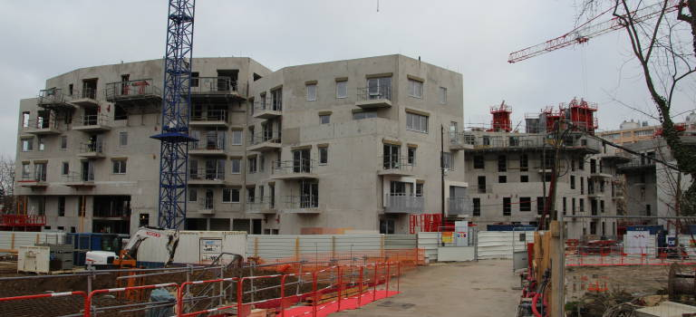 74 200 logements mis en chantier en Ile-de-France en 2016
