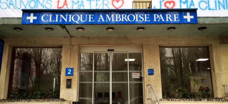 Manif de soutien à la clinique Ambroise Paré de Bourg-le-Reine