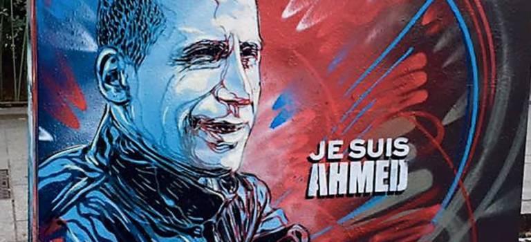 Le street-artiste vitriot C215 rend hommage à Ahmed Merabet