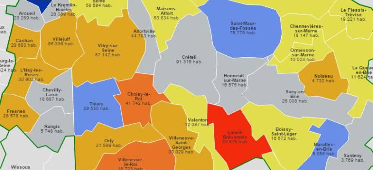 Avec 1 354 005 habitants, le Val-de-Marne affiche une croissance dynamique
