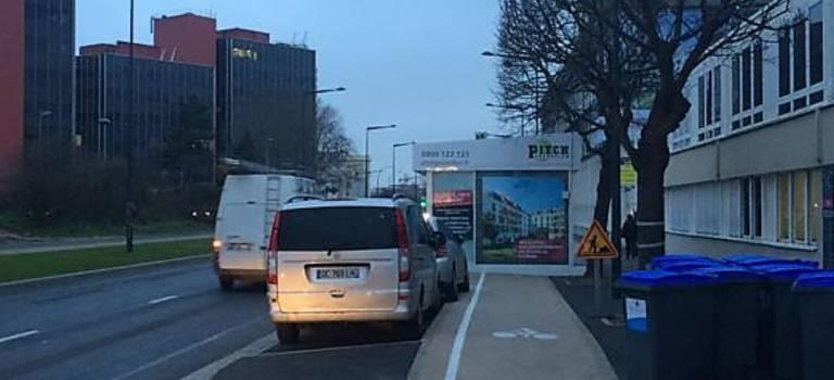 La bulle de promoteur qui énerve les cyclistes sur la RD19