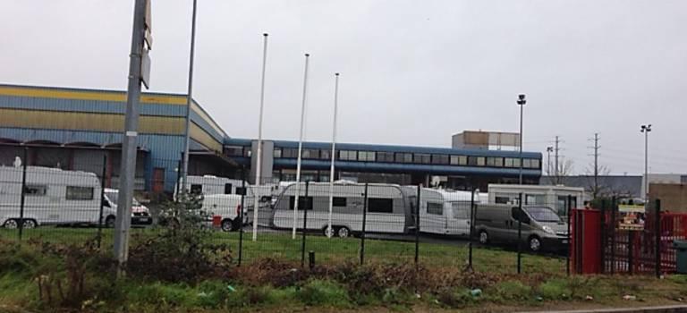 Une trentaine de caravanes ont fait un stop chez l'ex-site Mory-Ducros à Limeil